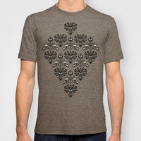 Halloween Haunted mansion Ghost Pattern Adult Tee T-shirt by Three Second