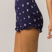FULL TILT Embroidered Palm Womens Shorts