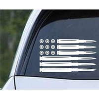 Ammo Flag AR Pro Gun Rights Die Cut Vinyl Decal Sticker