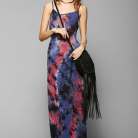 Staring At Stars Knit Tie-Dye Open-Back Maxi Dress - Urban Outfitters