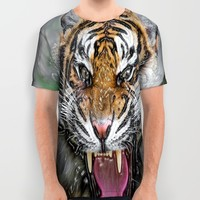 ANGRY TIGER All Over Print Shirt by Acus