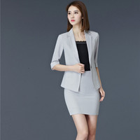2017 Formal Professional Business Suits With Jackets And Skirt And Undershirt For Female Blazers Outfits Work Wear Blazers