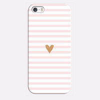 Tiny Gold Glitter Heart Case for iPhone 6 6S ,5G SE, 4 4S