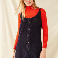 Urban Renewal Remade Button-Down Corduroy Shift Dress | Urban Outfitters