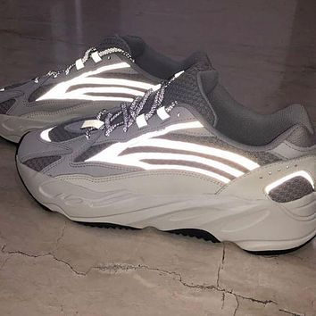 Adidas Yeezy 700 Runner Boost Popular Couple Sport Running Shoes Sneakers Luminous white
