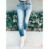 Henley Straight Fit Cuffed Jeans