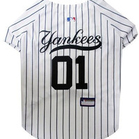 New York Yankees Baseball Dog Jersey XS