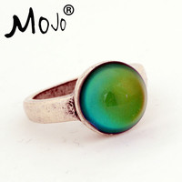 Mojo 2016 New Arrival Classical Retro Color Change Mood Ring Fashion Ring Temperature Control Wedding Ring for Women MJ-RS036