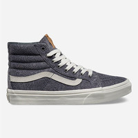 Vans Motif Floral Sk8-Hi Slim Womens Shoes Grey  In Sizes