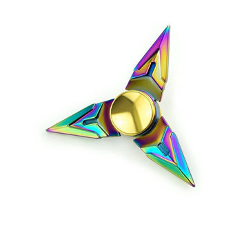 Rainbow Fidget Spinner- Triangle