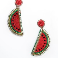 Watermelon Statement Earrings