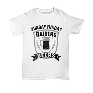 Sunday Funday Raiders And Beers T-Shirt