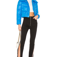 Lovers + Friends Candy Cropped Puffer in Blue | REVOLVE