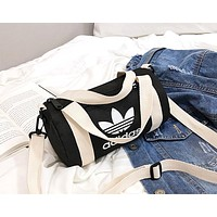 ADIDAS 2019 new women's zipper canvas shoulder bag Messenger bag Black