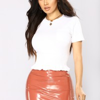 Adorya Front Pocket Top - White