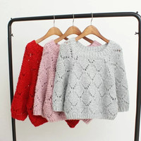 Cutout Knitted Sweater