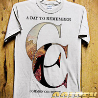 COMMON COURTESY - A Day To Remember Men T-Shirt - Rock Band T-Shirt - A Day To Remember Design for Men T-Shirt (Various All Color Available)