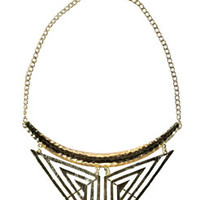 Shannon Triangle Plaque Necklace