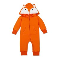 Little Fox! New Born Baby Long Sleeve Jumpsuit with Hoodie