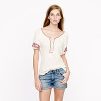 Embroidered gauze top - tops - Women's shirts & tops - J.Crew