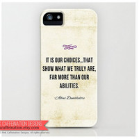 Harry Potter Albus Dumbledore Quote iPhone Case / Cover / Inspirational Quote iPhone Case / for iPhone 4, 4S and 5
