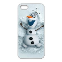Cute Snowman Olaf Hot Waterproof Rubber(TPU) Apple iPhone 5 5s Case Back Cover at Surprise you