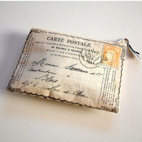 Postcard from France purse by RosiesArmoire on Etsy