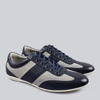 Armani Jeans - Blue Perforated Trainers | nigelclare.com