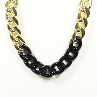 BLACK + GOLD COMBO CHAIN LINK NECKLACE
