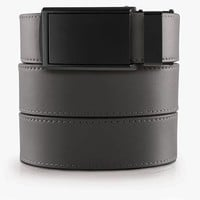 Steel Grey Genuine Leather Golf Belts