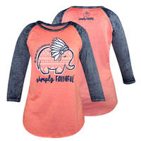 Simply Faithful By Simply Southern Elephant Aztec Long Sleeve T-Shirt