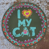 Car  Magnets:  Love  My  Cat  Car  Magnet  From  Natural  Life