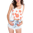 Miss Me Daisy Crop Top - White