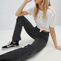 Nobody's Child Kick Flare Pants In Pin Stripe at asos.com