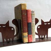 Tough Alley Cat Bookends for Cat Pet Lovers