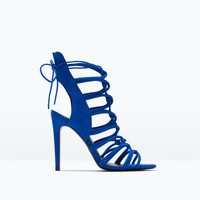 High heel strappy slingback sandals