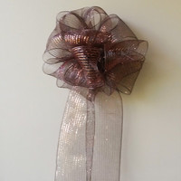 Large Mesh Fall Bow-Fall Decorations-Large Bow-Door Bow- Mailbox Bow-Mantel Bow-Large Gift Bow