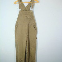 Vintage Overalls, Khaki Overalls, No Excuses, Dungarees, 80s Overalls, Suspender Overalls, Tan Overalls, 1980s Overalls, Size Small