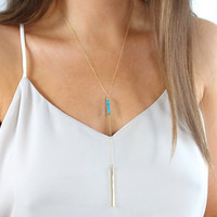 Boho Pendant Layering Necklace