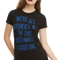 Doctor Who We're All Stories Girls T-Shirt