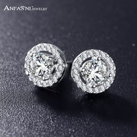new silver color Stud Earrings For Wedding