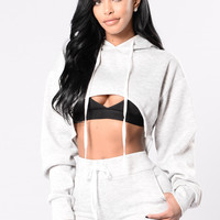 I'm Winning Top - Heather Grey