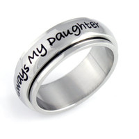 Spinner Daughter Mom Ring Always My Daughter Gift Stainless Still Purity Love