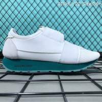 HCXX B005 Balenciaga Casual Race Runner Low-top Running Shoes White Green