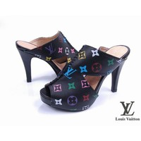 Louis Vuitton Women Fashion Leather Heels Sandals Shoes-2
