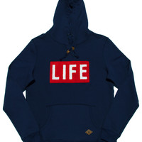 Altru Apparel LIFE Logo Hoodie - Navy (Size XL Only)