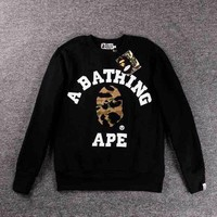PEAPFN Bape Couples long sleeves round neck