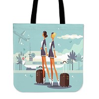 Flight Attendant Linen Tote Bag
