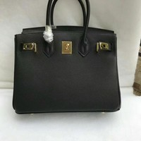hcxx 012 Hermes Stylish and beautiful platinum handbag with hand print Black