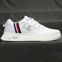 LV Shoes Nike Air Sports Shoes Louis Vuitton Sports Shoes Jointly breathable running shoes Stripe White